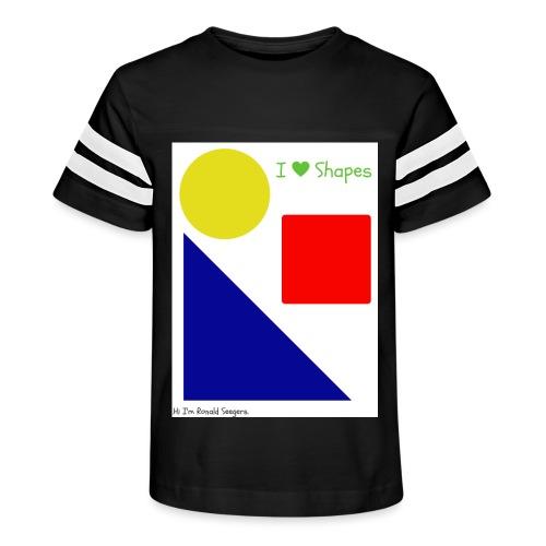 Hi I'm Ronald Seegers Collection-I Love Shapes - Kid's Vintage Sport T-Shirt