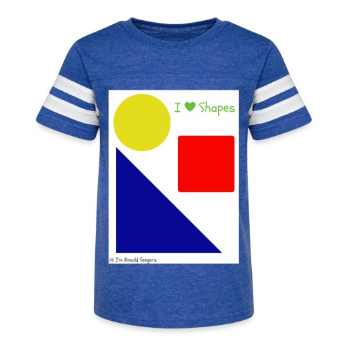 Hi I'm Ronald Seegers Collection-I Love Shapes - Kid's Vintage Sport T-Shirt
