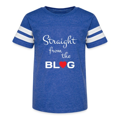 STRAIGHT FROM THE BLOG [FUN BLOGGER SHIRT] - Kid's Vintage Sport T-Shirt
