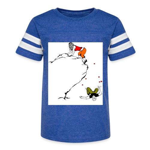 Lady Climber - Kid's Vintage Sports T-Shirt