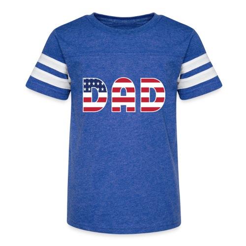 DAD + US Flag - Kid's Vintage Sport T-Shirt