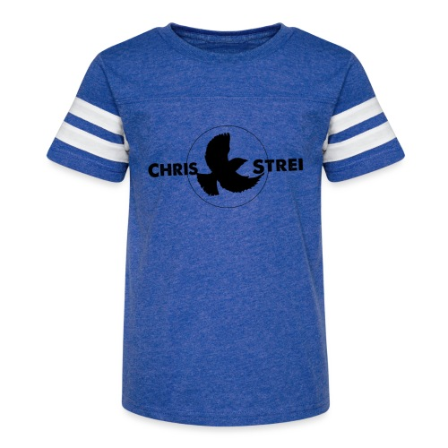Chris Strei BlackBird Logo - Kid's Vintage Sport T-Shirt