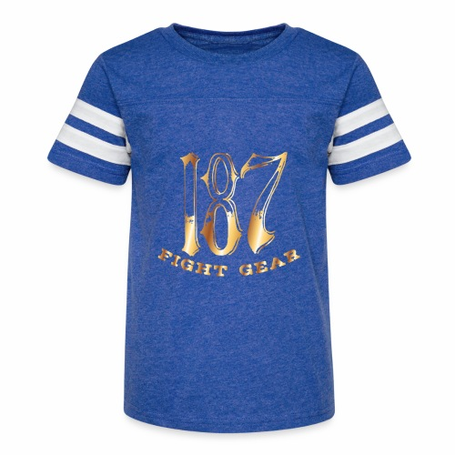 187 Fight Gear Gold Logo Street Wear - Kid's Vintage Sport T-Shirt