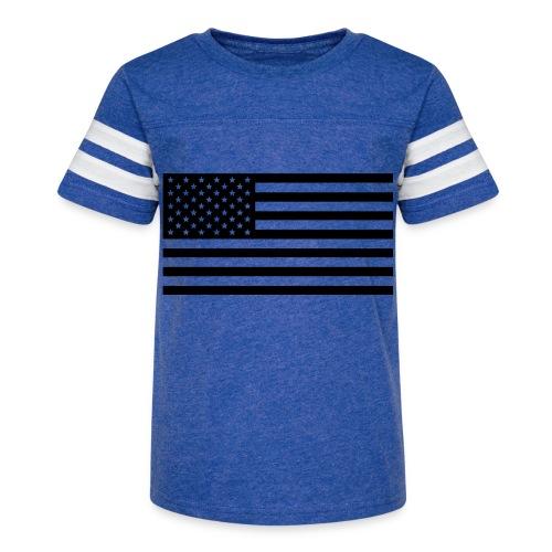 American Flag - Kid's Vintage Sport T-Shirt