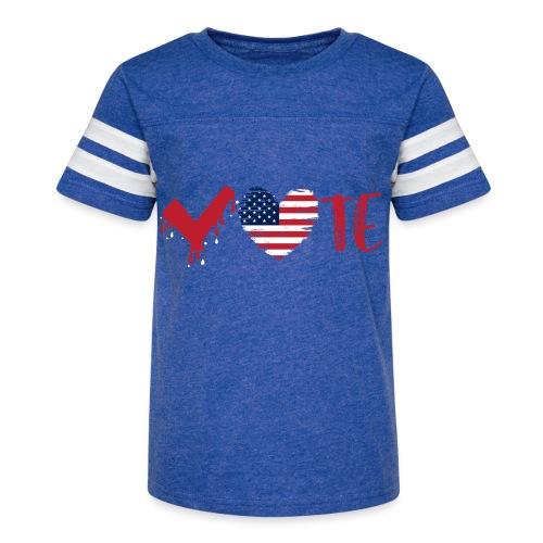 vote heart red - Kid's Vintage Sport T-Shirt