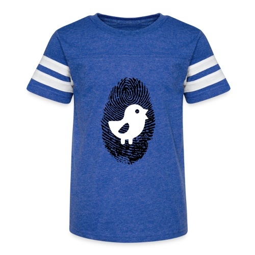 Chick Finger Print - Kid's Vintage Sport T-Shirt