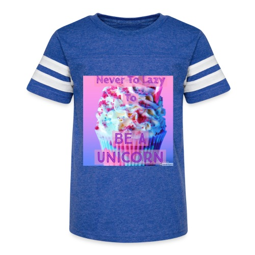 Never To Lazy To Be A Unicorn - Kid's Vintage Sport T-Shirt