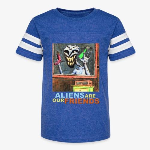 Aliens Are Our Friends - Kid's Vintage Sport T-Shirt