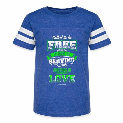 Galatian Free in Love - Kid's Vintage Sport T-Shirt