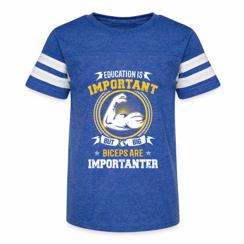 Workout is Important - Kid's Vintage Sport T-Shirt