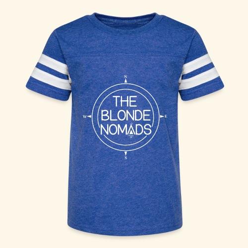 The Blonde Nomads logo WHITE - Kid's Vintage Sport T-Shirt
