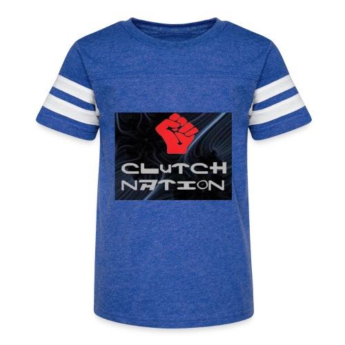 clutchnation logo merch - Kid's Vintage Sport T-Shirt