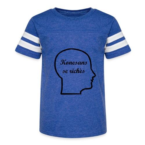 Konesans se richès - Knowledge is power - Kid's Vintage Sport T-Shirt