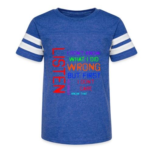 I don't care - Kid's Vintage Sport T-Shirt
