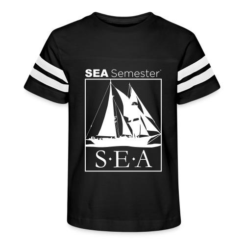 SEA_logo_WHITE_eps - Kid's Vintage Sports T-Shirt