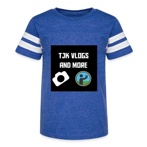 TJK Vlogs and More logo clothing - Kid's Vintage Sport T-Shirt