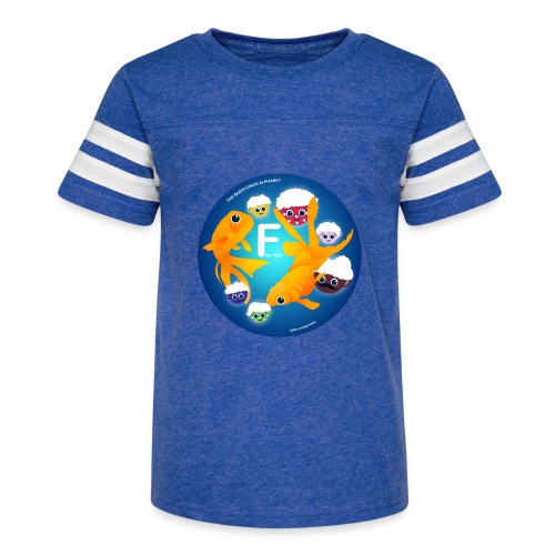 The Babyccinos The Letter F - Kid's Vintage Sports T-Shirt