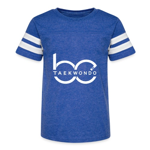 Logo emblem WHITE no bg - Kid's Vintage Sport T-Shirt