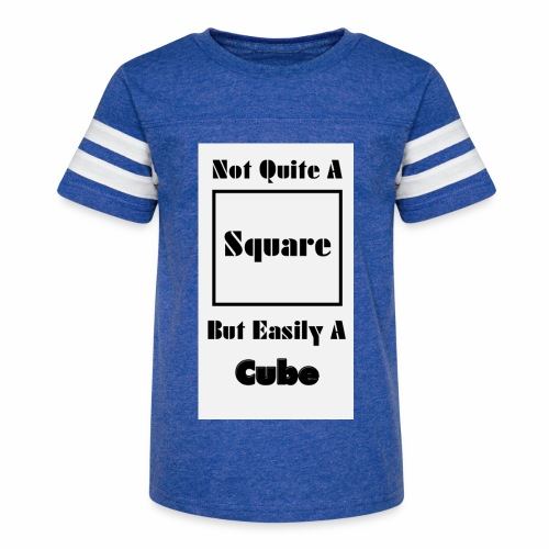 Not Quite A Square But Easily A Cube - Kid's Vintage Sports T-Shirt