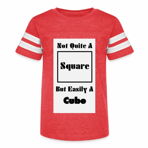 Not Quite A Square But Easily A Cube - Kid's Vintage Sport T-Shirt