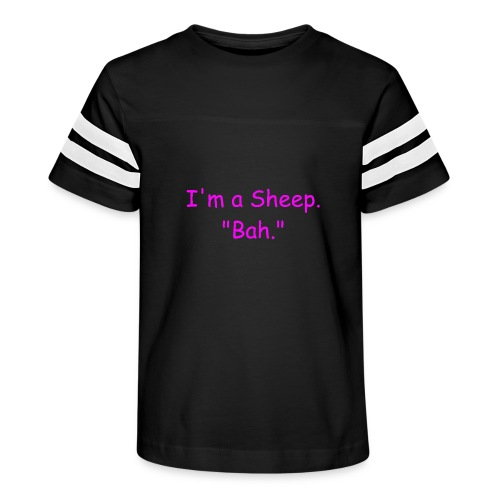 I'm a Sheep. Bah. - Kid's Vintage Sport T-Shirt