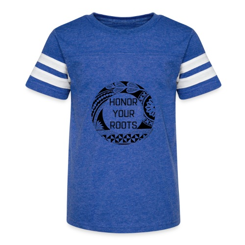 Honor Your Roots (Black) - Kid's Vintage Sport T-Shirt