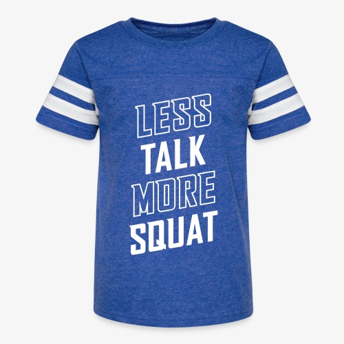 Less Talk More Squat - Kid's Vintage Sport T-Shirt