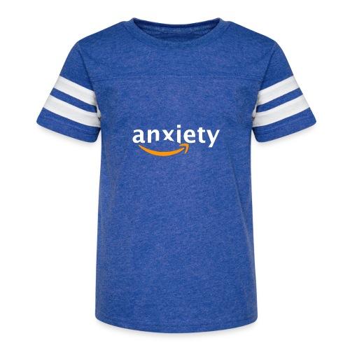 anxiety amazon logo - Kid's Vintage Sport T-Shirt