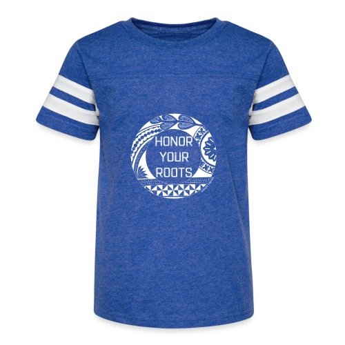 Honor Your Roots (White) - Kid's Vintage Sport T-Shirt