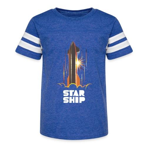 Star Ship Mars - Dark - Kid's Vintage Sport T-Shirt
