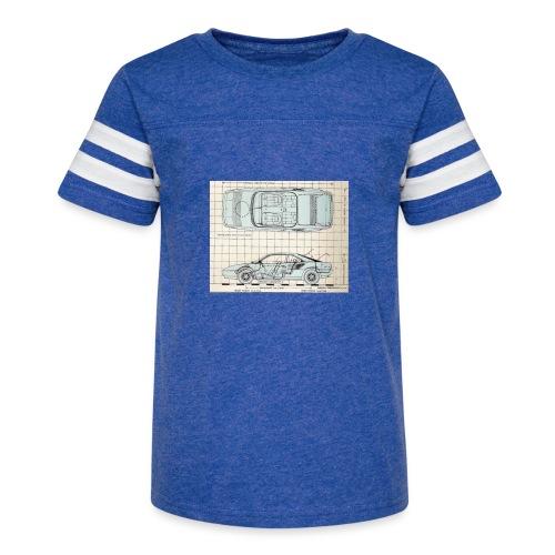 drawings - Kid's Vintage Sport T-Shirt