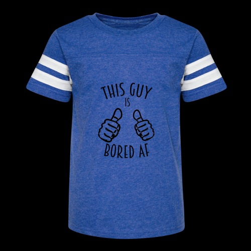 This Guy is Bored As F*#k - Kid's Vintage Sport T-Shirt
