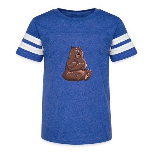 Bear in Contempt T-Shirt - Kid's Vintage Sport T-Shirt