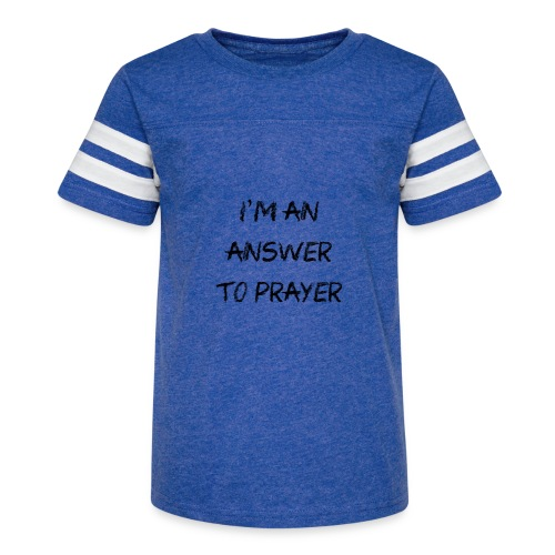 Answer to prayer - Kid's Vintage Sport T-Shirt