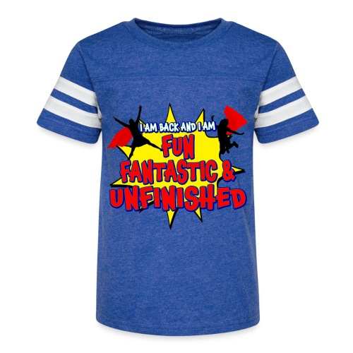 Unfinished girls jumping - Kid's Vintage Sport T-Shirt