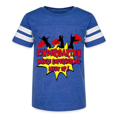Kindergarten where SUPERHEROES meet up! - Kid's Vintage Sport T-Shirt