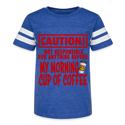 Not responsible for anything before my COFFEE - Kid's Vintage Sport T-Shirt