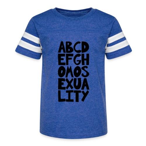 ABCDEFGHOMOSEXUALITY - Kid's Vintage Sport T-Shirt