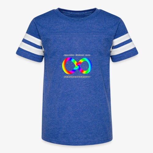 Embrace Neurodiversity with Swirl Rainbow - Kid's Vintage Sport T-Shirt
