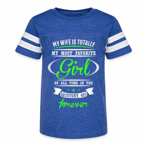 Wife Girl - Kid's Vintage Sport T-Shirt
