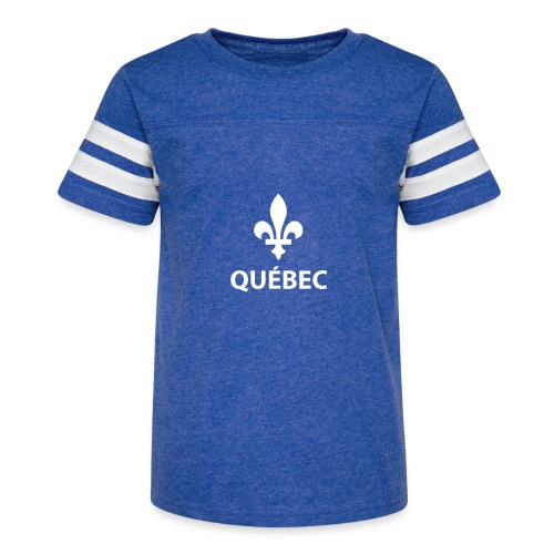 Québec - T-shirt sport rétro pour enfants