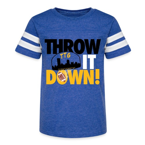 Throw it Down! (Turnover Dunk) - Kid's Vintage Sport T-Shirt