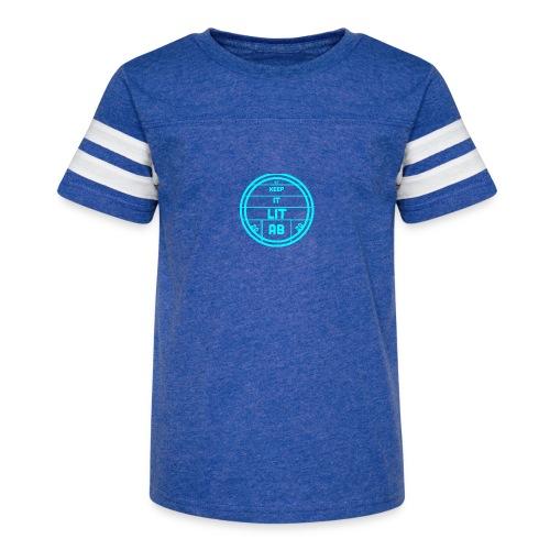AB KEPP IT LIT 50 SUBS MERCH - Kid's Vintage Sport T-Shirt