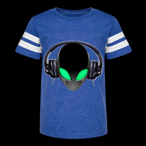Alien Music Lover DJ (Simplified Fit All Design) - Kid's Vintage Sport T-Shirt