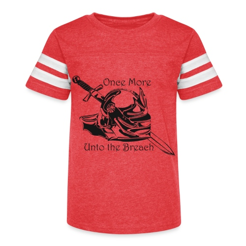 Once More... Unto the Breach Medieval T-shirt - Kid's Vintage Sport T-Shirt