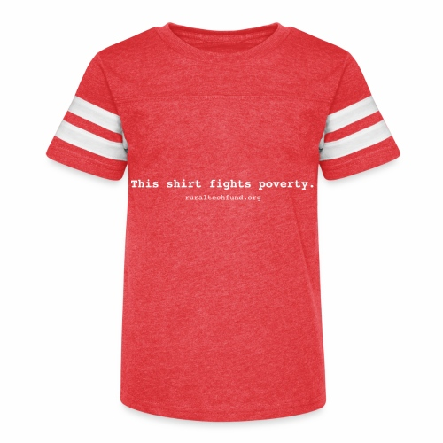 This Shirt Fights Poverty - Kid's Vintage Sport T-Shirt