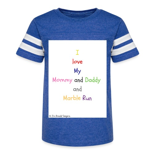 Hi I'm Ronald Seegers Collection-What I love - Kid's Vintage Sport T-Shirt