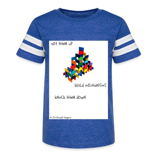Hi I'm Ronald Seegers Collection-dominoes - Kid's Vintage Sport T-Shirt