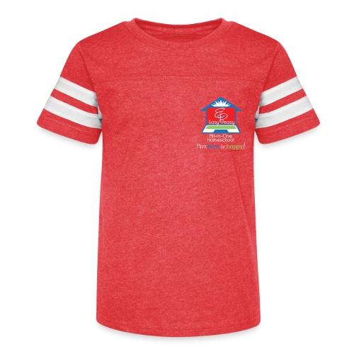 EZPZ Logo All-in-One Homeschool and Tagline - Kid's Vintage Sport T-Shirt