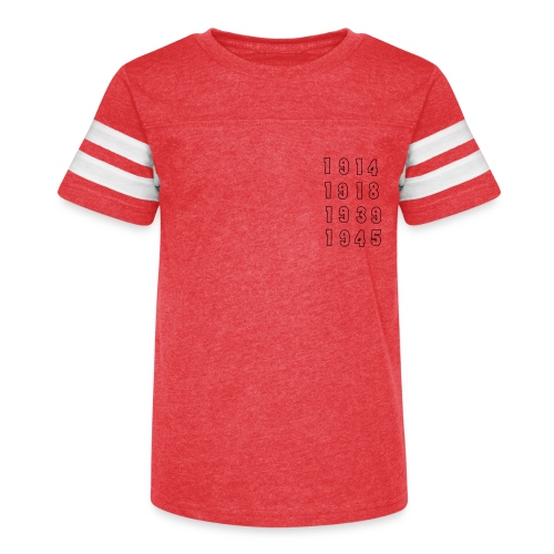 Great War Dates - Kid's Vintage Sport T-Shirt